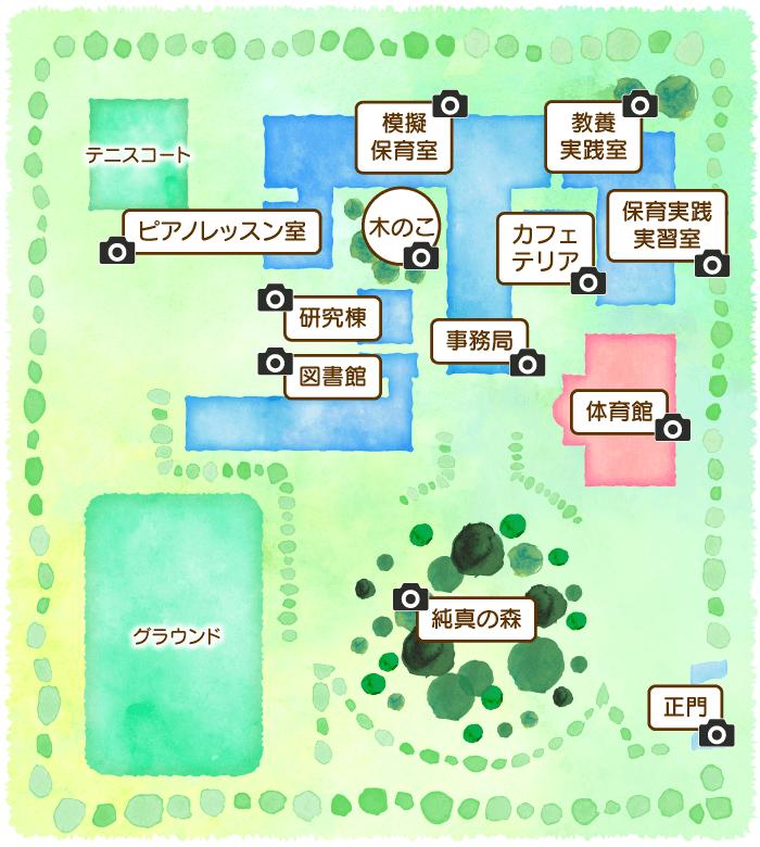 埼玉純真短期大学・キャンパスマップ